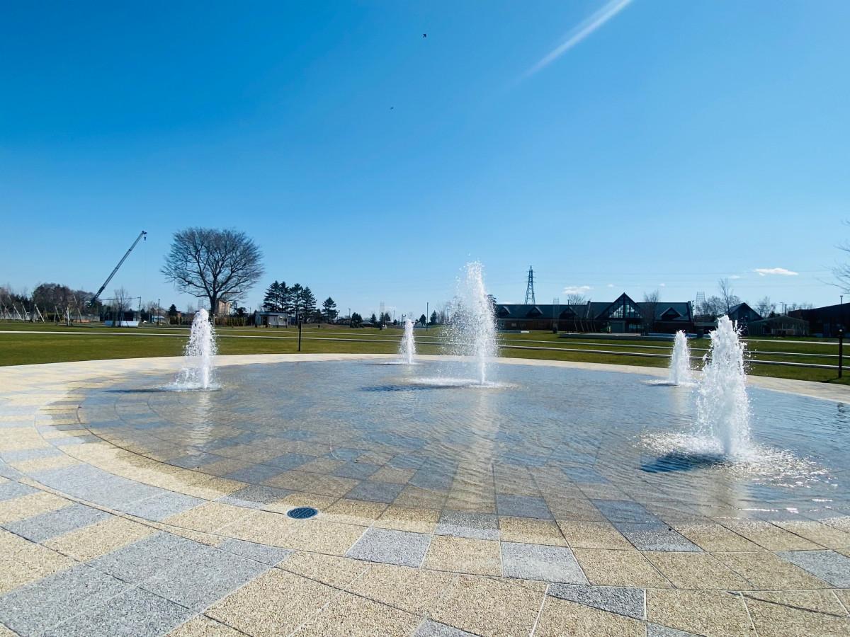 はなふるガーデンエリアの噴水をオープンします!